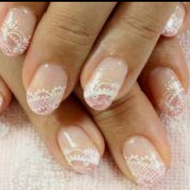 Lace nail art | Wedding Beauty | Pinterest