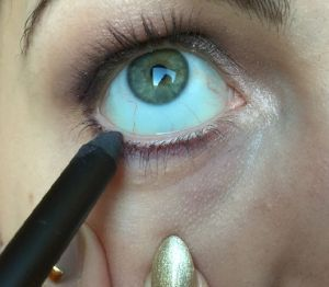 paarse eyeliner wimperrand