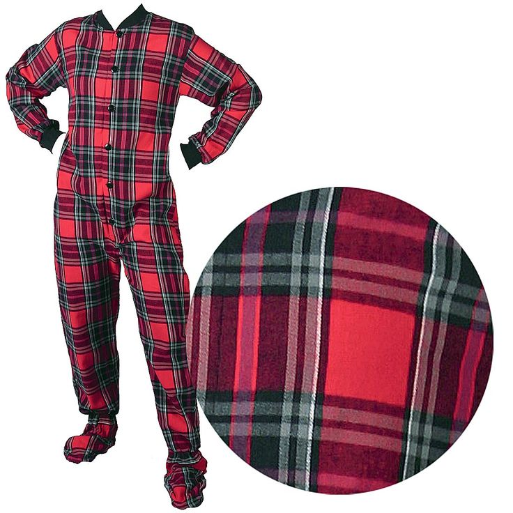 These red and green plaid footed pajamas are some of the best selling footed pajamas for men and women. if you love plaid footed pajamas, you have to check these ones out. http://www.crazyforbargains.com/bigfepjsreda.html