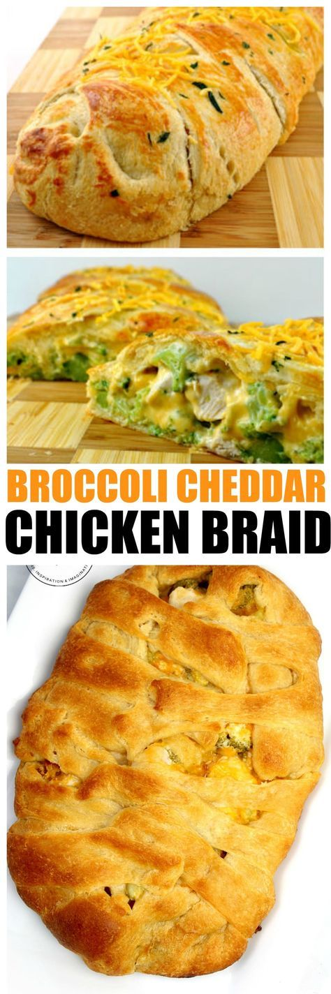 Broccoli Cheddar Chicken Braid with a Crescent Roll Braid is filling, delicious, and packs a hearty punch for a family meal everyone can rave about. Get recipe here