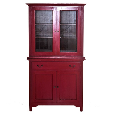 Lunenburg Hutch   was $999.99 now $499.99  SKU 114134 Brick Red and Antique Brown  18 inches wide x 40 inches long x 72 inches high   was $1099.99 now $549.99  SKU 114924 Cream  18 inches wide x 40 inches long x 72 inches high   was $1099.99 now $549.99  SKU 115406 Black  18 inches wide x 40 inches long x 72 inches high