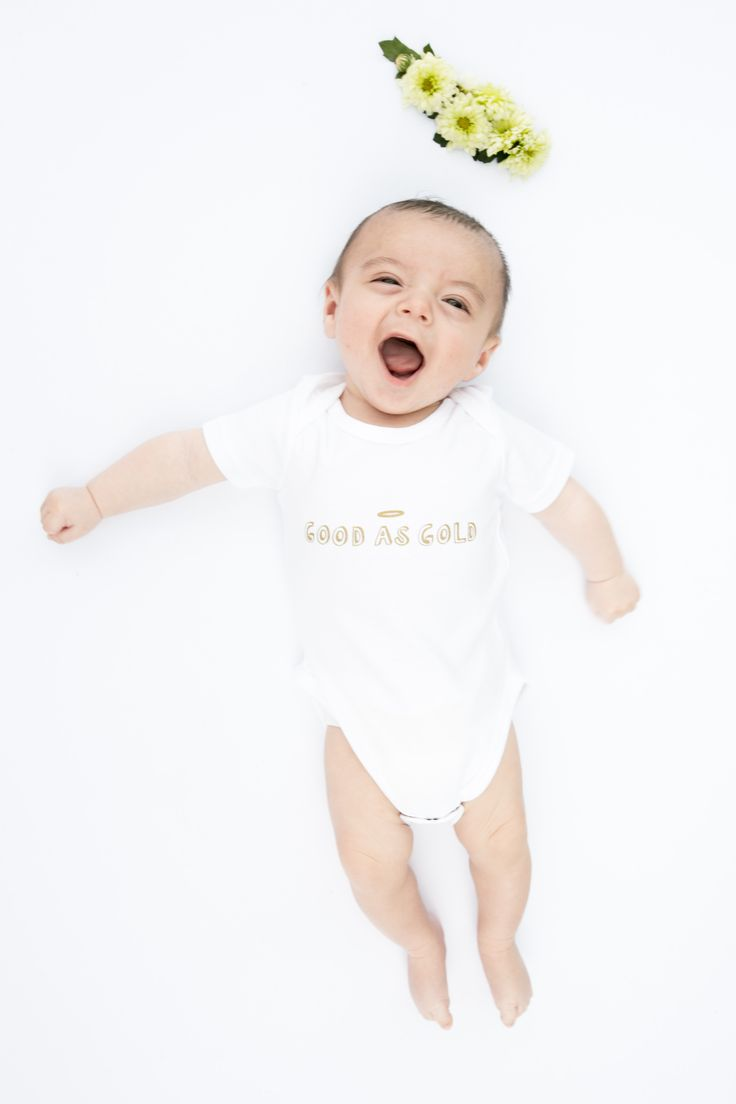 'Good As Gold' Organic angelic babygrow! http://www.thislittle.boutique/#!shop/ccy