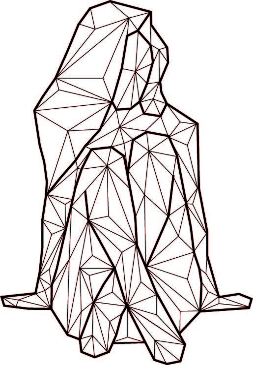 geometric shapes drawing shape drawings line portrait dessin designs 3d dibujos pencil graphic forme string abstract animal geometrical attempt arte