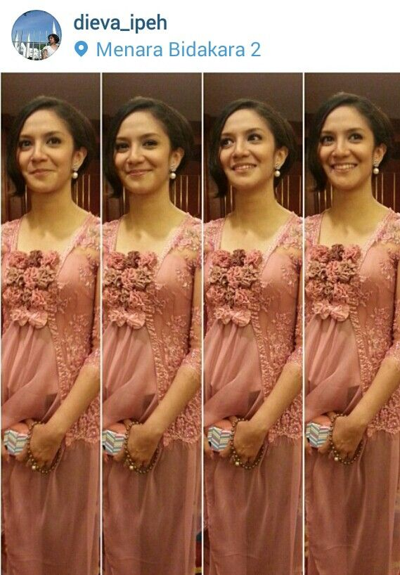Peach  kebaya dress