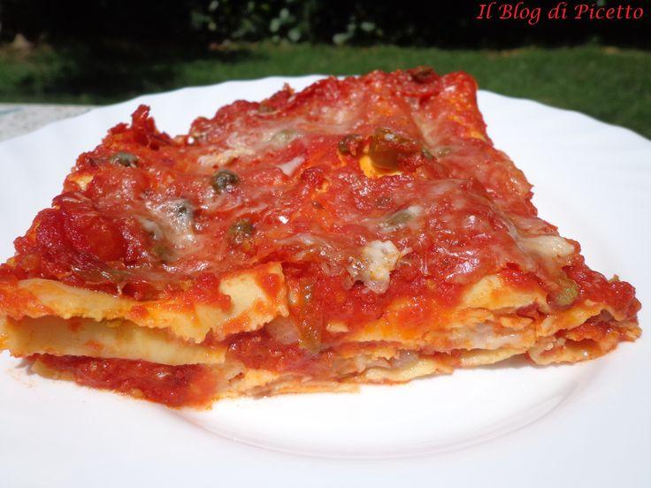 Lasagna leggera cotta al micoonde