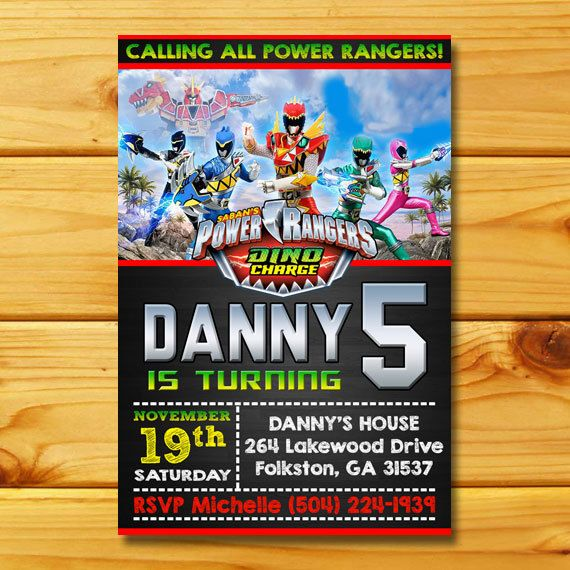 34 best Power ranger board images – Power Rangers Party Invitations