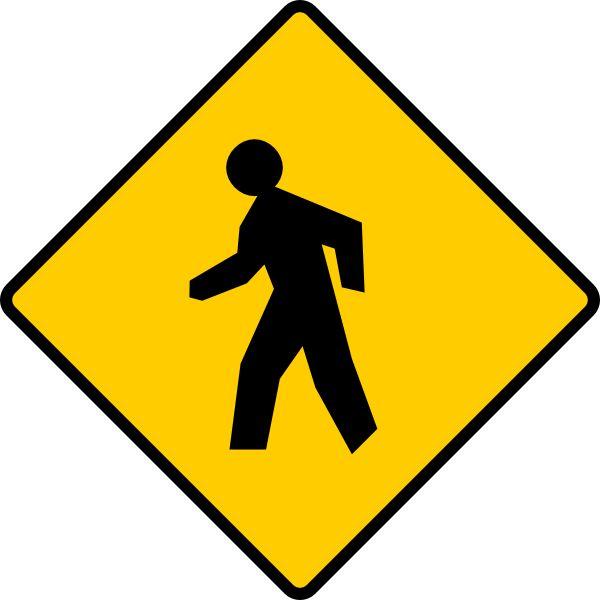 Pedestrian Sign Clip Art At Clker Com   Vector Clip Art Online