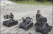 The Foster-Miller TALON robot is a small, tracked military robot designed for missions ranging from reconnaissance to combat.