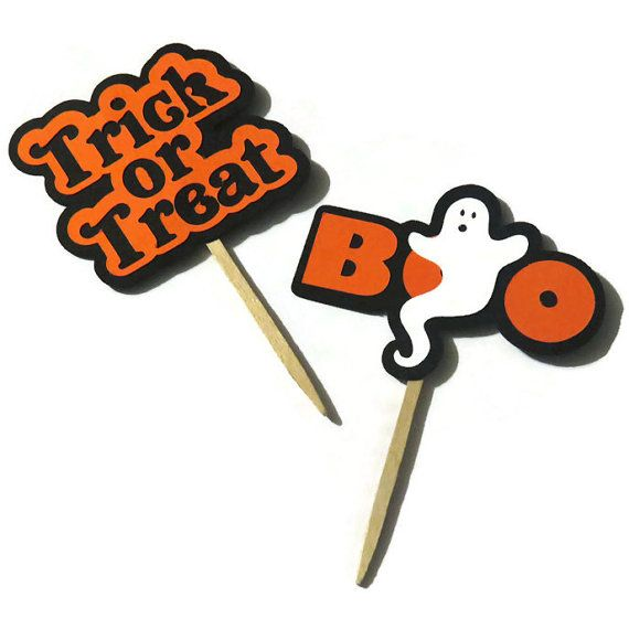 These Halloween cupcake toppers are perfect for a Halloween party - whether for children or for adults. We designed these jumbo toppers to make huge
