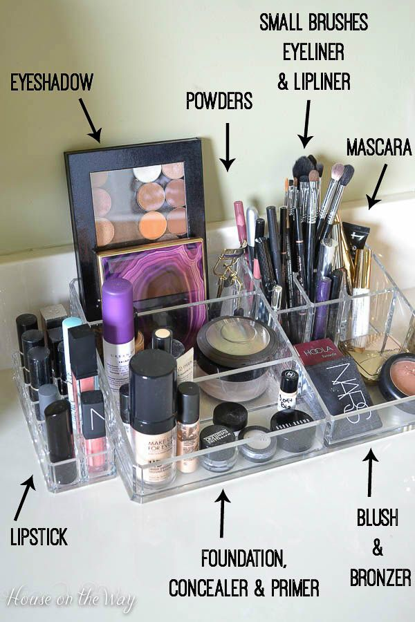 If you love makeup, then you probably have a lot of it! Get organized in a beautiful, efficient way with a divided tabletop organizer. See how I've organized my makeup into different categories and created a beautiful vanity!