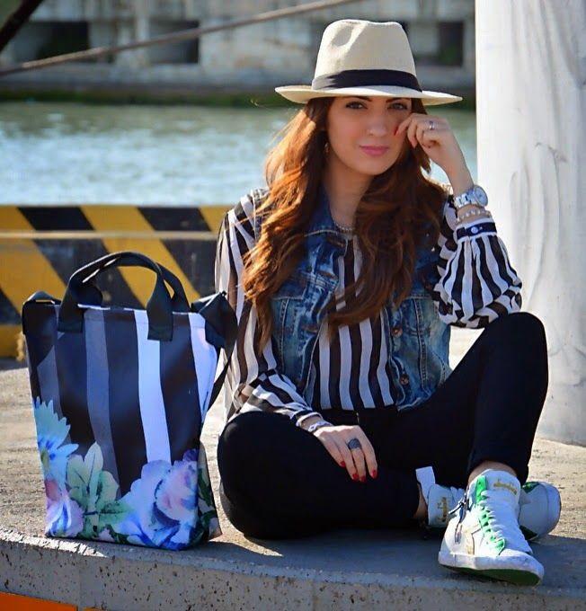 """JUST      FASHIONABLE         by Anna Colucci: Un look casual nelle mie """"righe"""" con cappello Pana..."""