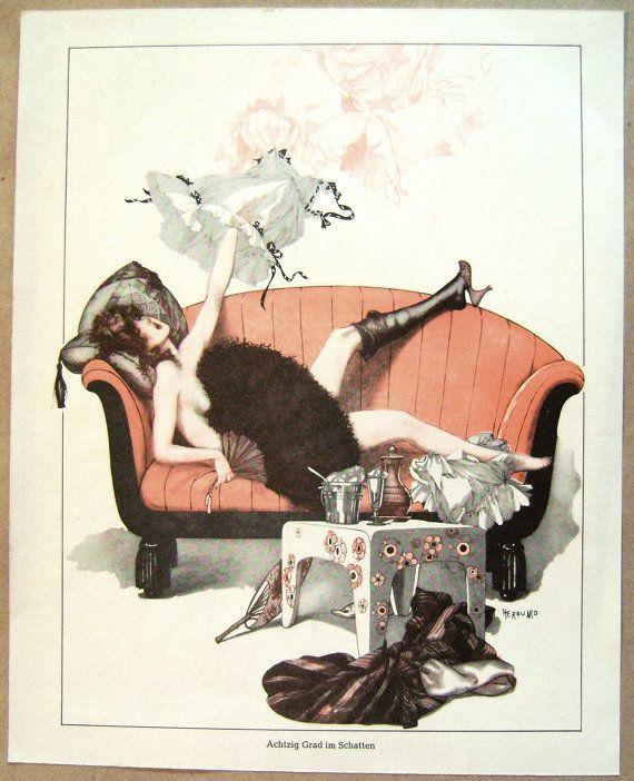 Vintage Print Raphael Kirchner/Cheri Herouard by CrookedHouseBooks
