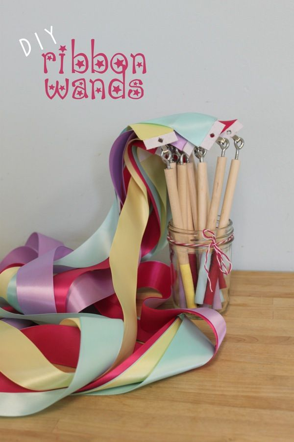 Learn how to make your own Ribbon Wands with this tutorial from Mama.Papa.Bubba