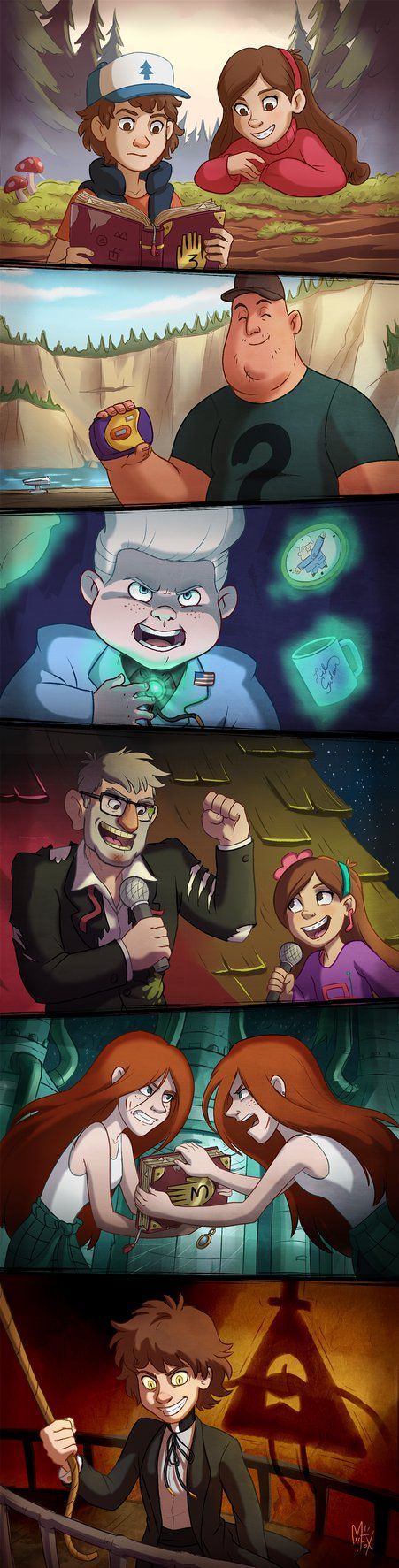 Gravity Falls! by Mistrel-Fox on deviantART I This is actually really good.