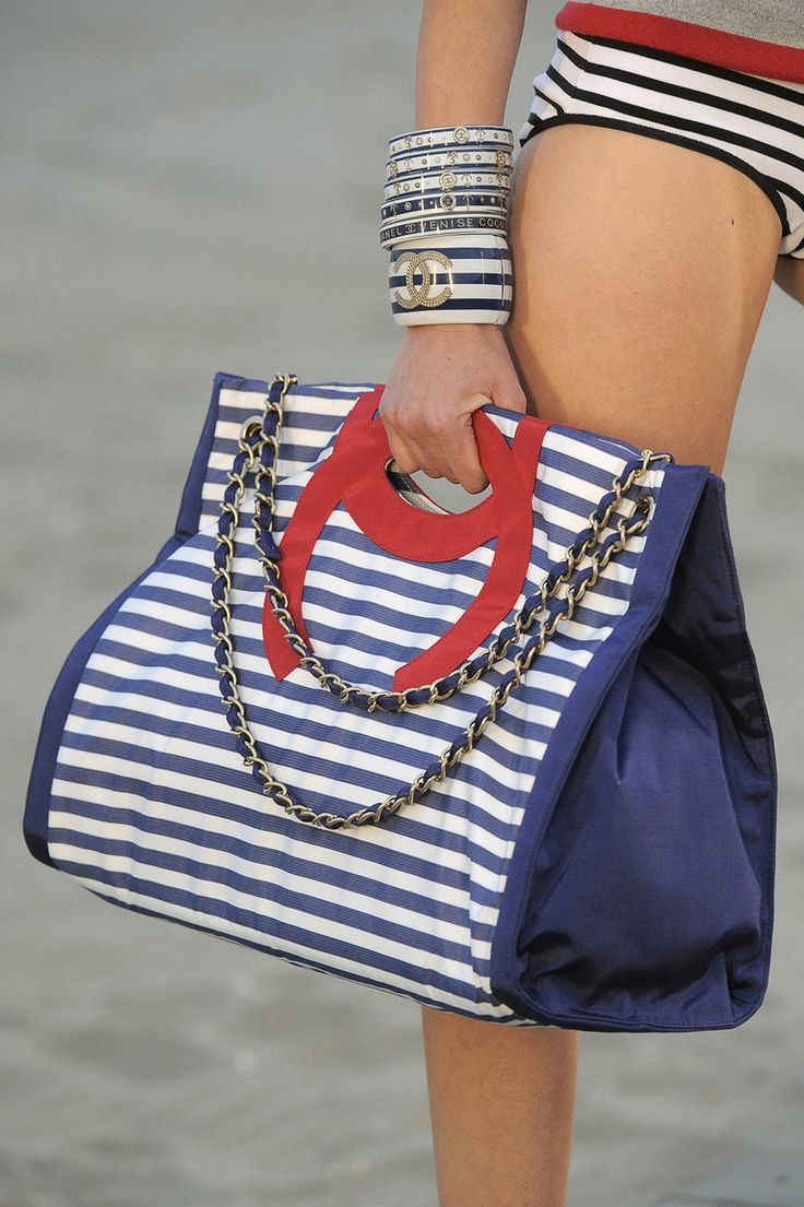 Chanel ~ Spring Red+White+Blue Leather Bag 2014