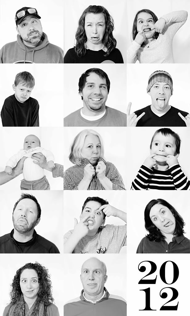 silly family picture collage idea
