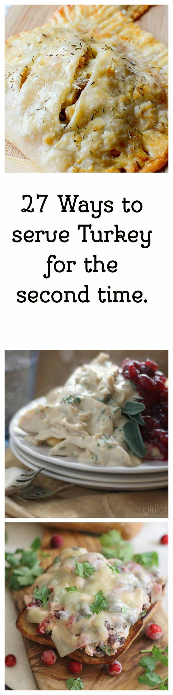 Have some left over turkey? I have 27 ideas for you to serve up turkey for the second time.