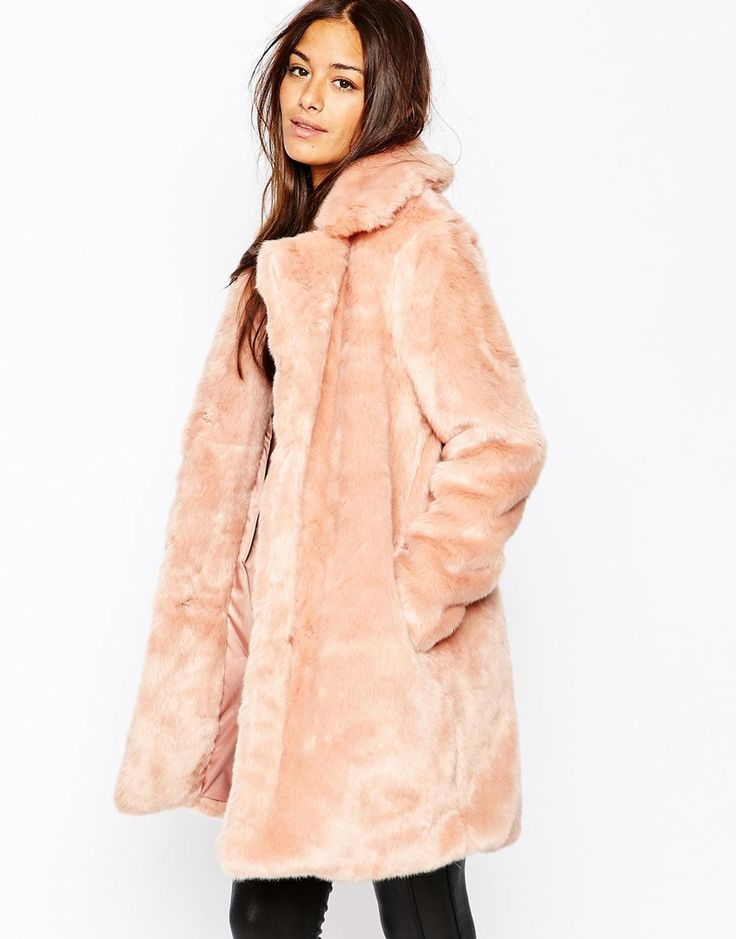 #Missguided Faux Fur Longline Coat #asos
