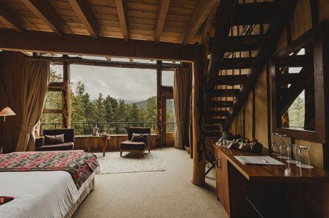 Dormitorio principal rústico