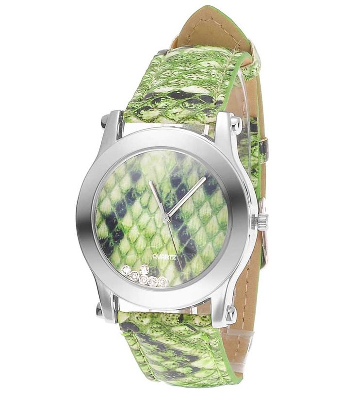 Loved it: Tropez Green Python Round Dial Green Strap Women's Watch, http://www.snapdeal.com/product/tropez-green-python-round-dial/1155786616