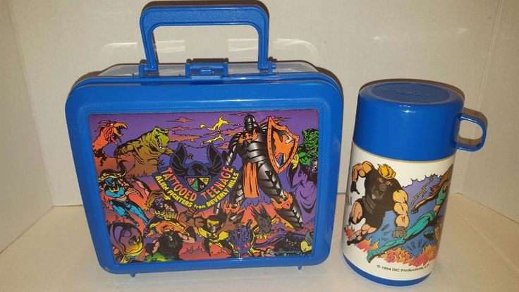 Aladdin TATTOOED TEENAGE ALIEN FIGHTERS from BEVERLY HILLS Lunch Box & Thermos