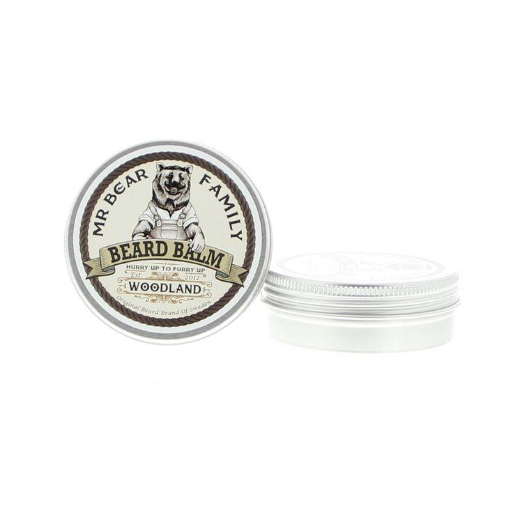 Mr Bear Family Beard Care Beard Balm Balsem Woodland 60ml  Description: Mr Bear Family Beard Balm Woodland.Mr Bear's Beard Balms zijn gemaakt van uitsluitend natuurlijke oliën en andere natuurlijke ingrediënten handelen hydraterend en voedend op de baard. De baard zier weelderiger en voller uit terwijl het roodheid irritatie jeuk en droge huid verlicht. De baard krijgt een natuurlijke verzorgde look. Met een frisse geur van groene dennenbossen.Gebruik: Neem wat balsem uit het blik en maak…