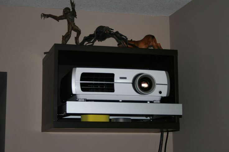 IKEA DIY Projector mount for home theater projector http://www.projectorpeople.com/home-theater/professional.asp