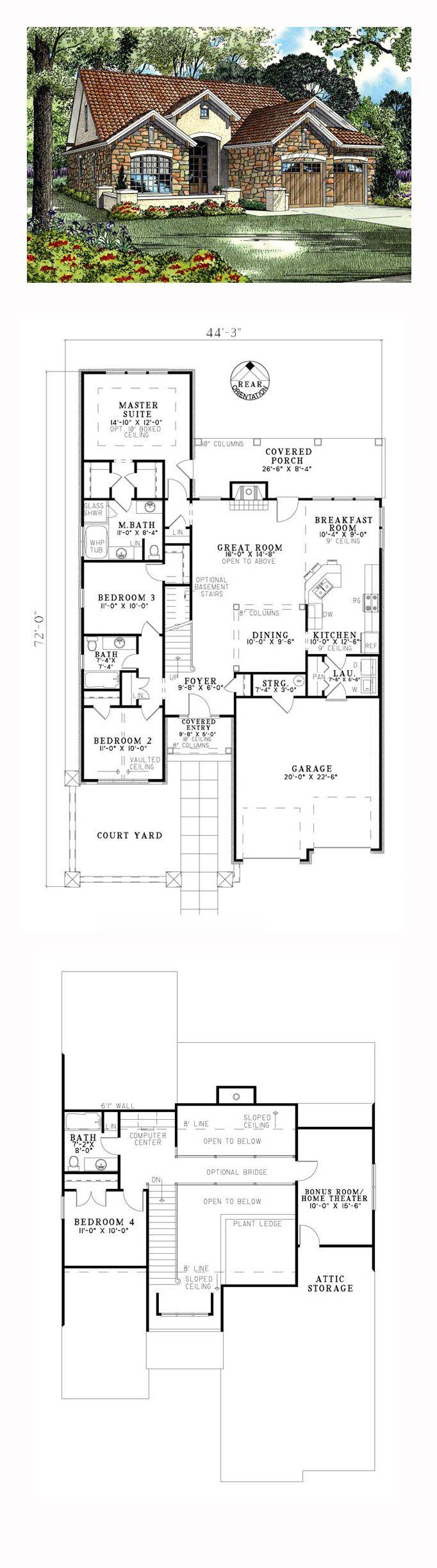 Italian Mediterranean Tuscan House Plan 82112 50