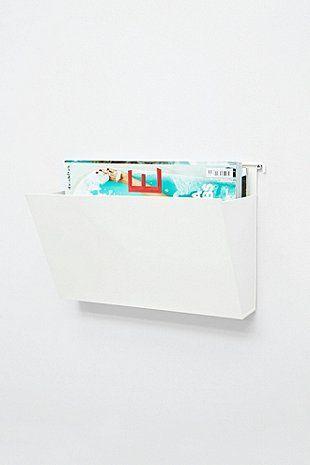 Wand-Zeitschriftenhalter in Weiß