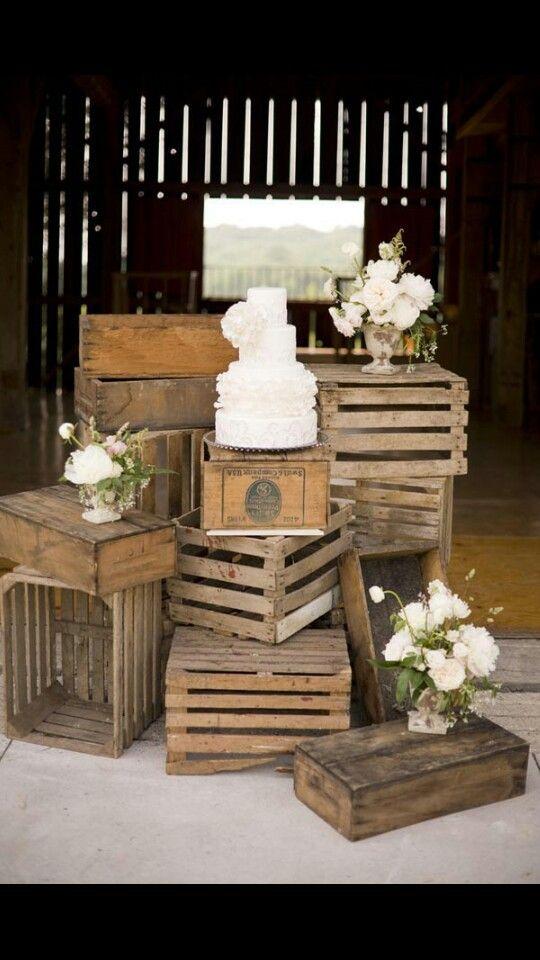 Rustic wedding worth milk crates