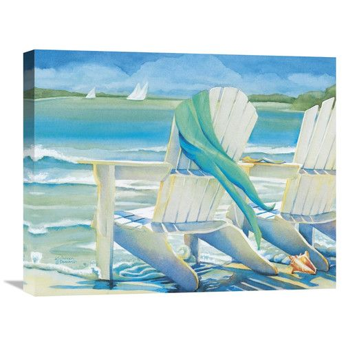 Found it at Joss & Main - Seaside Breeze by Kathleen Denis Painting Print on Wrapped Canvas