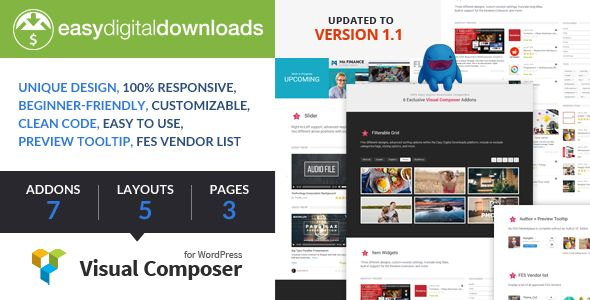 Easy Digital Downloads for Visual Composer