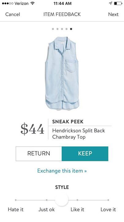 Love this top! Not crazy about chambray in general but this sleeveless button up style is one of my faves