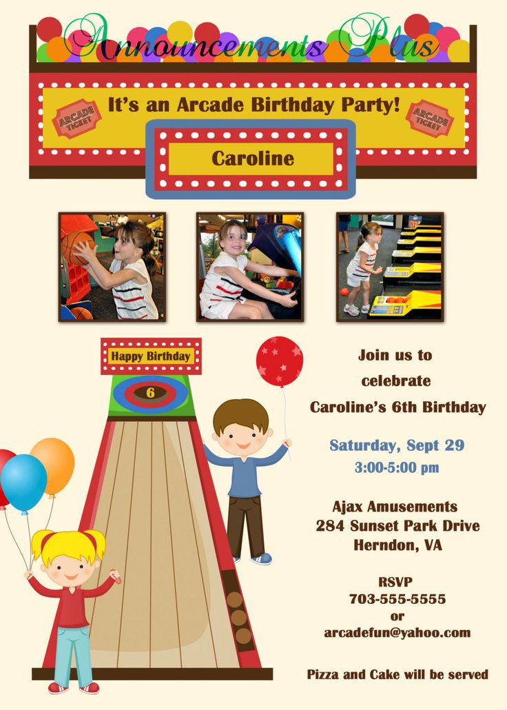 7 best chuck e cheese birthday party images on pinterest | chuck e, Birthday invitations