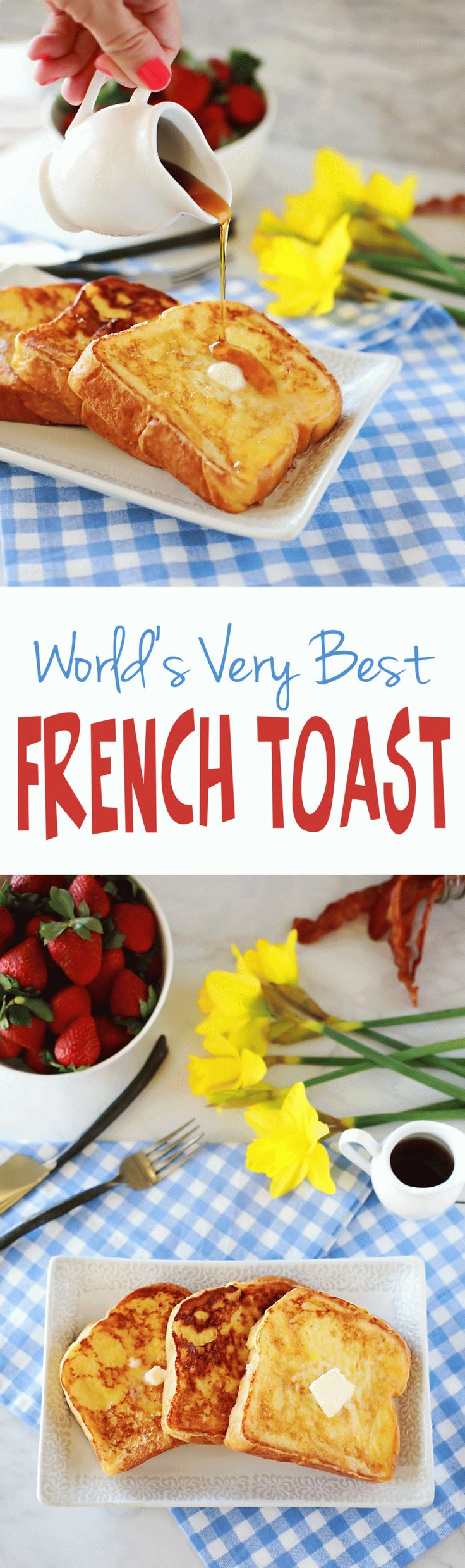 Amazing French Toast with easy thick batter recipe by Flirting with Flavor. This was the best French Toast I have ever had!