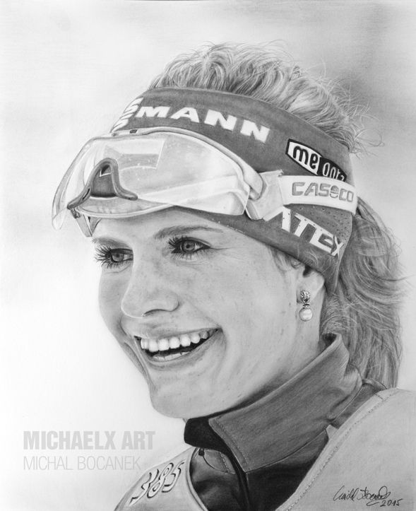 Gabriela Soukalova - Olympic medalist in biathlon by byMichaelX on DeviantArt