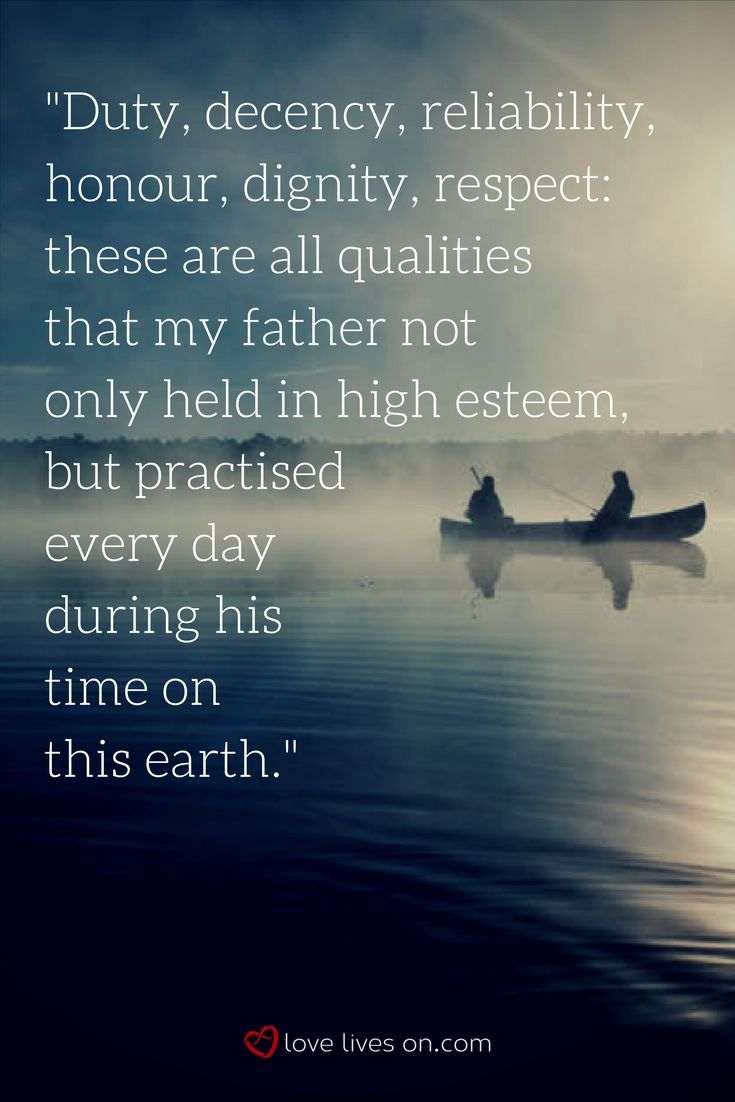 A beautiful & touching eulogy quote from our list of best eulogy examples for Dad.
