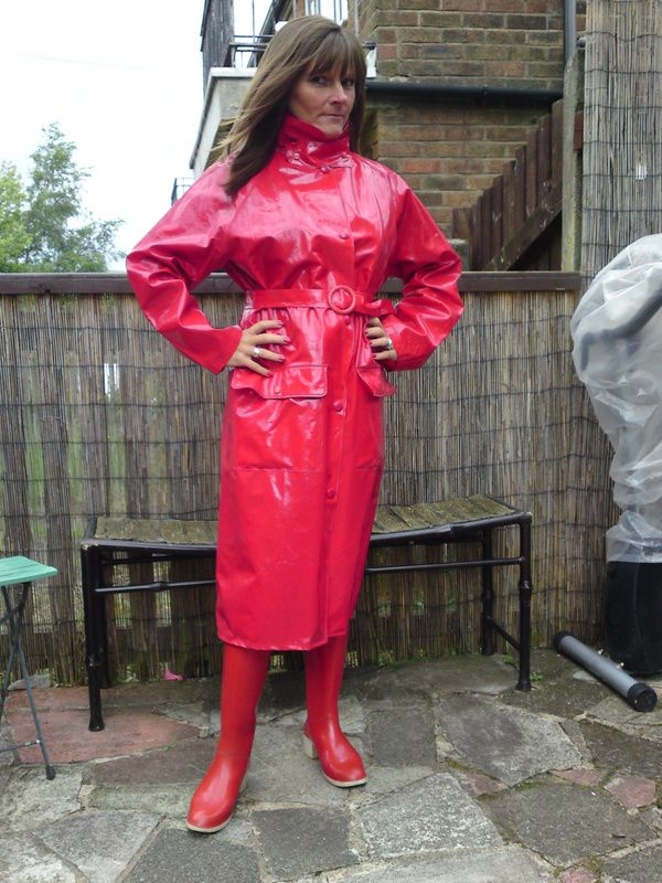 029 Postimage Org Rainwear Girl Rain Wear Red Raincoat