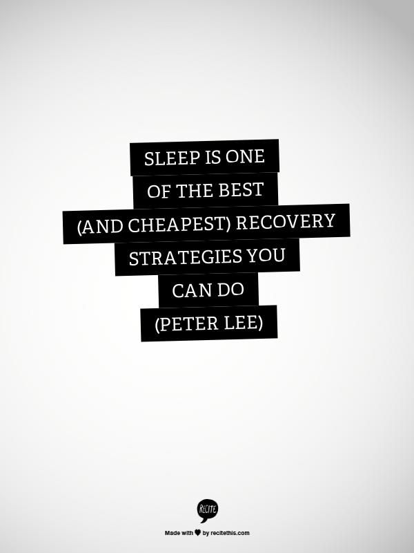 Tip from #physio Peter Lee