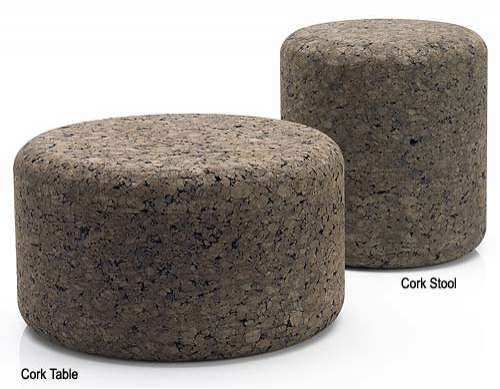 Eco Friendly Cork Furniture Table and stool