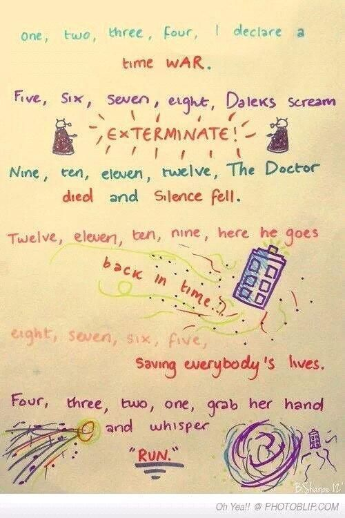 Best Doctor Who meme I've seen in a while... Want to memorize the rhyme!