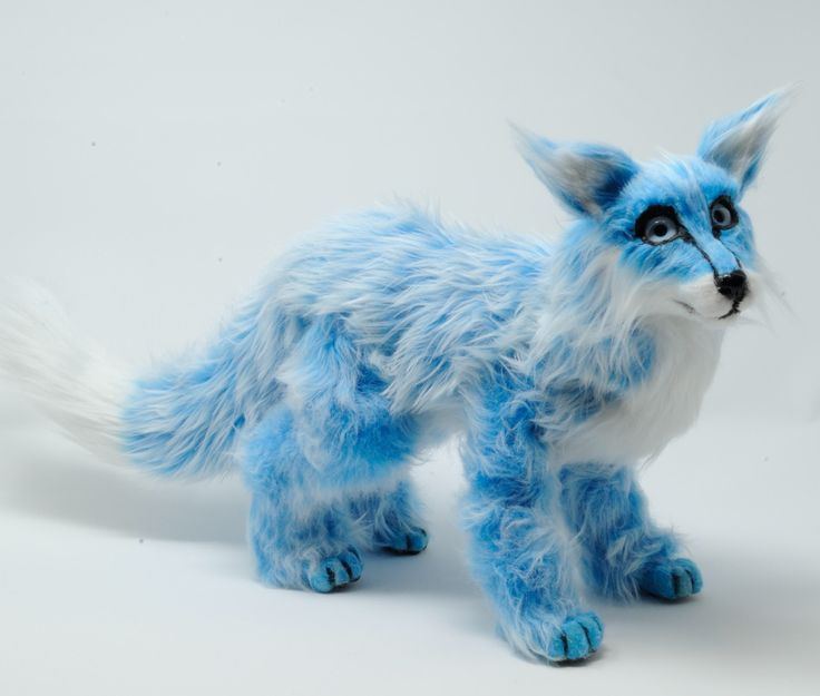Poseable art doll Skye the blue cloud fox