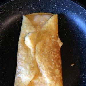 omelette aux flocons d'avoine et banane