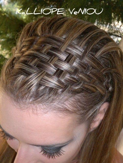 basket weave braid @Elena Groenenboom - Click image to find more Hair  Beauty Pinterest pins