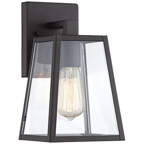 "Arrington 10 1/2"" High Mystic Black Outdoor Wall Light.  For next to both exterior doors as well as to replace sconces in stairwells."