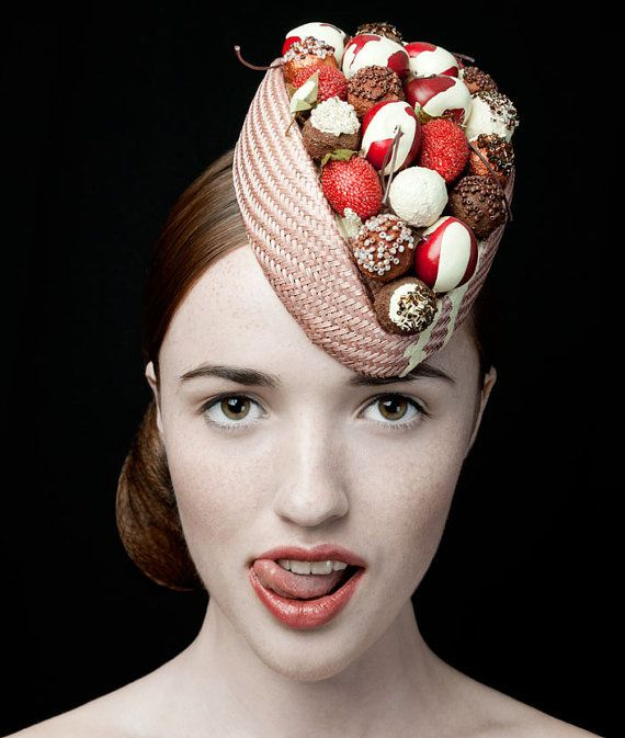 The Deliciously Decadent Chocolate Cherry Bombe Hat by Zara Carpenter