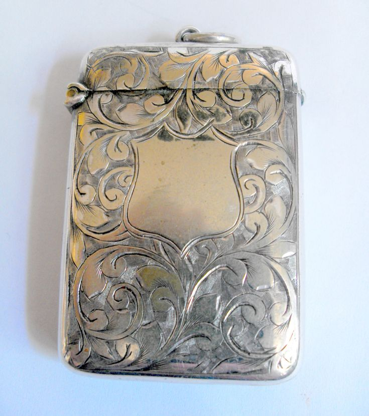 11474 #Antique plated bright cut vesta £30 inc P&P /offers welcome