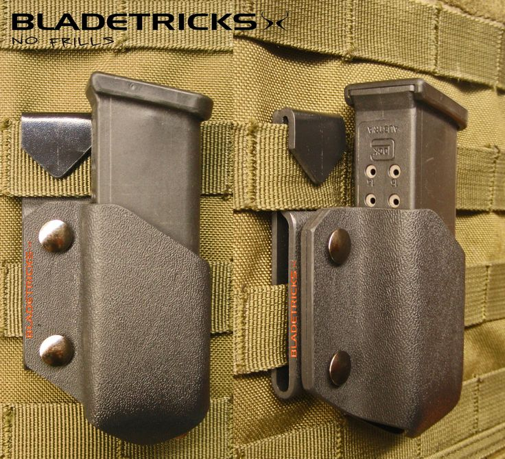 Bladetricks Modular Magazine Pouch with Trick Clip Molle attachment #tactical #glock