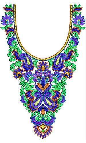 Jalabiya | African Caftan | Embroidery Neck Design