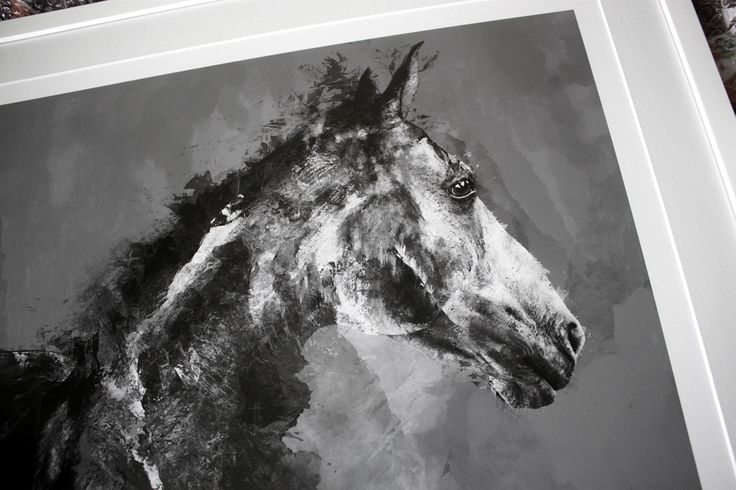 Horse 01 - limited edition print by Magdalena Dymańska / equestrian art